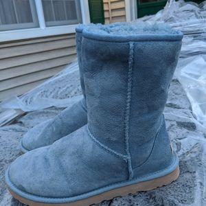 Women's Light Blue Ugg Tall Boots Size 7M EUC